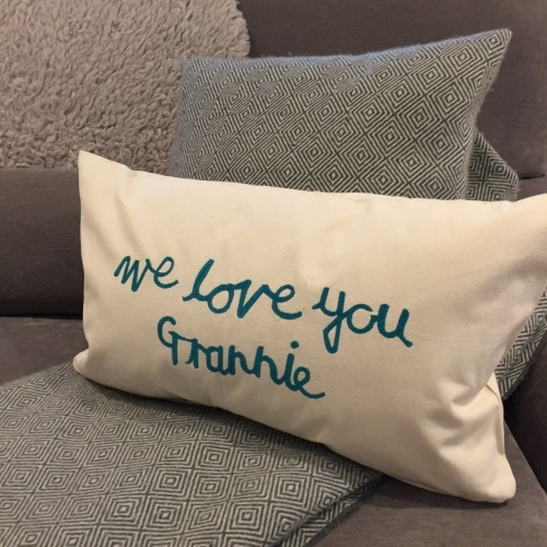 cushion writing